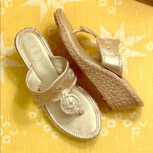 Jack Rogers Gold Thing Wedge Sandals
